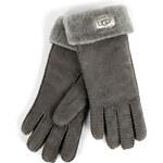 UGG Australia Shearling Turn Cuff Gloves in Grey