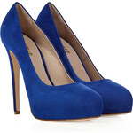 Le Silla Royal Blue Suede Overlasted Platform Pumps