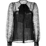 Emilio Pucci Lace Tie Neck Blouse in Black