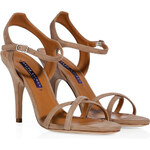 Ralph Lauren Collection Taupe Suede Sandals