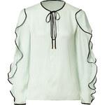 Emilio Pucci Silk Ruffle Sleeve Top