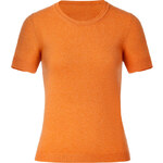 Malo Musk Melon Short Sleeve Cashmere Top
