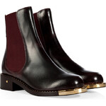 Laurence Dacade Leather Chelsea Boots in Burgundy