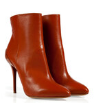 Maison Martin Margiela Leather Pointed Toe Ankle Boots with Sculpted Stilettos