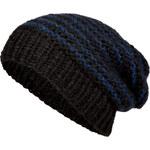 Lala Berlin Timon Knit Cap in Black/Blue Metallic