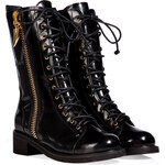 Giuseppe Zanotti Leather Lace Up Boots in Black