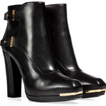Belstaff Leather Wembley Ankle Boots in Black