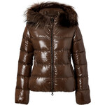 Duvetica Adhara Down Jacket with with Fur Trim in Stambecco
