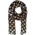 Marc by Marc Jacobs Laurel Check Scarf in Black Multi