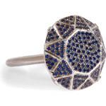Ileana Makri White Gold/Sapphire Gem Single Solitaire Ring