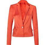 Just Cavalli Orange Satin One Button Blazer