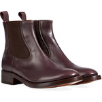 LAutre Chose Leather Chelsea Boots in Coffee Brown