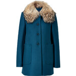 Tara Jarmon Wool Coat in Duck Blue