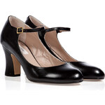 Marc Jacobs Leather Mary-Janes in Black