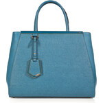 Fendi Leather 2Jours Tote in Turquoise