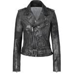 Each Other Slate Metallic Lambskin Biker Jacket