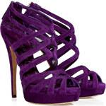 Casadei Iris Suede Platform Sandals
