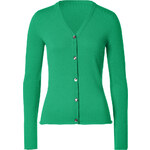 Lucien Pellat-Finet Racing Green V-Neck Cashmere Cardigan