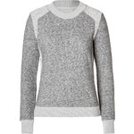 Theory Cotton-Wool Goleta Sweatshirt in Light Heather Grey