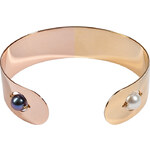 Delfina Delettrez Pink and Gold Plated Little Roll in Stone Cuff
