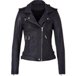 Iro Leather Jacket in Navy