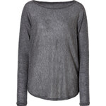 Vince Wool-Cashmere Blend Top in Thunder