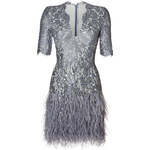 Matthew Williamson Embellished Lace Dress in Pewter