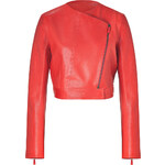 Vanessa Bruno Vermilion Leather Jacket