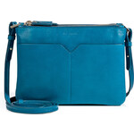 Jil Sander Leather Perimede Shoulder Bag in Aquarius
