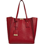 Burberry London Leather Medium Woodbury Tote in Military Red