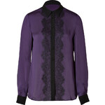 Emilio Pucci Silk Blouse with Lace in Purple