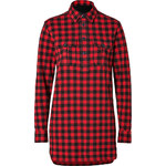 Polo Ralph Lauren Cotton Flannel Buffalo Check Tunic in Franklin Red