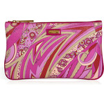 Emilio Pucci Slim Cosmetic Bag in Orchid/Bordeaux-Multi