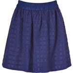 Marc by Marc Jacobs Blue Cotton-Silk Daisy Embroidered Skirt