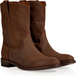 Ralph Lauren Collection Distressed Oiled Suede Boots in Snuff