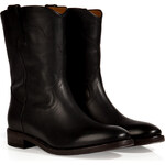 Ralph Lauren Collection Distressed Vachetta Boots in Black