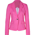 DKNY Charming Pink One Button Cotton Blazer