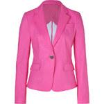 DKNY Charming Pink One Button Cotton Blazer