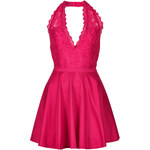 Topshop **Lace Plunge Neck Prom Dress by Rare