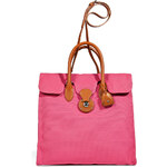 Ralph Lauren Collection Hot Pink Canvas Ricky Tote