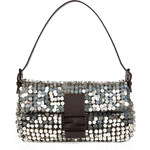 Fendi Sequined Baguette Bag in Silver Palladium