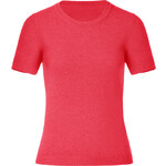 Malo Warm Coral Short Sleeve Cashmere Knit Top