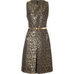 Michael Kors Jacquard Belted Dress in Olive Multi