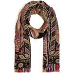 Etro Cashmere-Silk Paisley Print Scarf