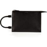 Jil Sander Leather Nizan Clutch in Black