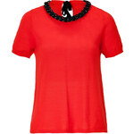 Moschino Cheap and Chic Embellished Collar Wool Knit Top