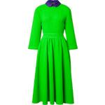 Roksanda Ilincic Wool-Crepe Hunter Dress in Acid Green/Purple