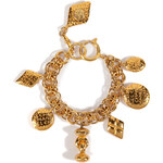 Chanel Vintage Jewelry Gold-Plated Coco Charm Bracelet