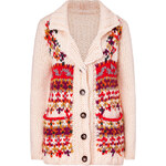 Paul & Joe Sister Ecru Multi Patterned Chunky Knit Cardigan