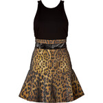 Camilla and Marc Venice of Gold Dress in Cheetah/Black